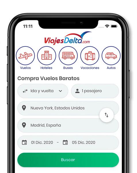 App Viajes Delta